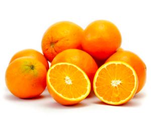 Healthy food for teeth and braces, oranges